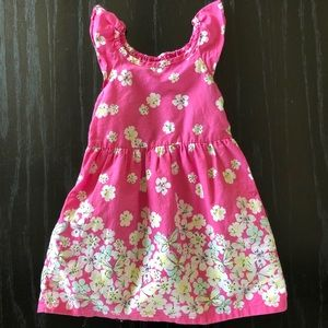 Pink Floral Cotton Sun Dress 2T